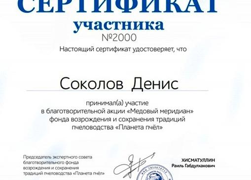 2000-Й СЕРТИФИКАТ – У ТРЕТЬЕКЛАССНИКА ИЗ ПЕРМИ!